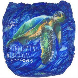 pañal estampado tortugas
