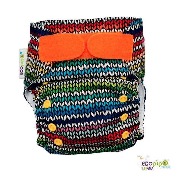 Pañal de tela estampado crochet